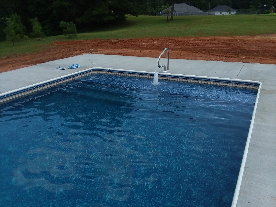 New pool construction, installation