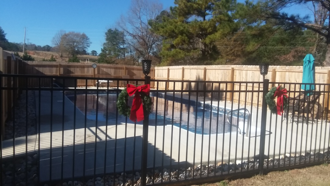 New swimming pool installation,construction.