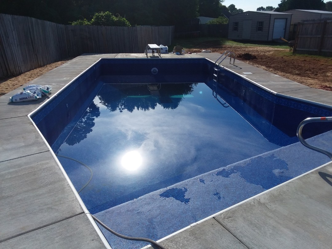 New swimming pool installation.