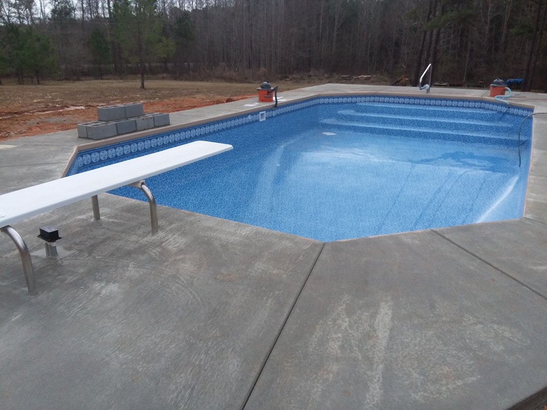 New pool construction, installation.