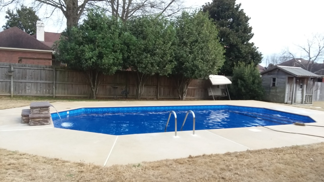 New swimming pool construction, installation and pool remodel.