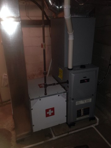 Nappanee, IN - Performed furnace maintenance and checked indoor air quality equipment.