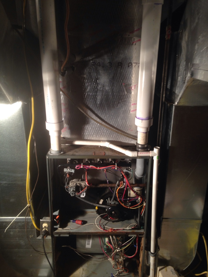 Constantine, MI - Service call on a furnace in a church. Furnace has a bad heat exchanger, which is really dangerous. There's no way to know unless your furnace is serviced