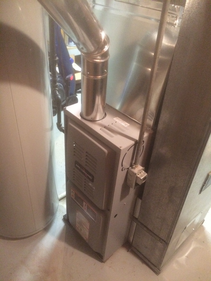 Milford, IN - Installing new 80 percent up flow furnace