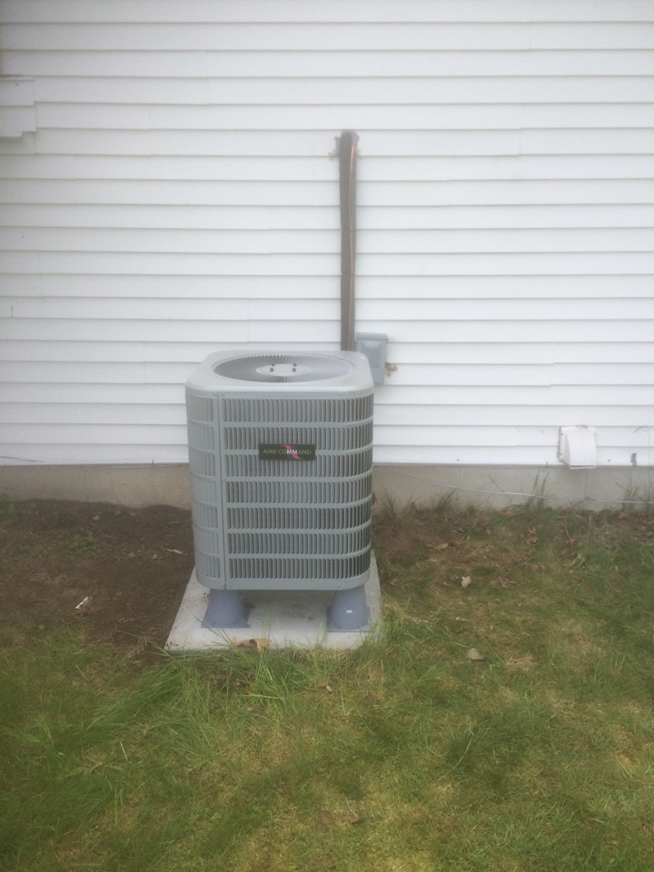 Milford, IN - New installation of an Aire Command air conditioner