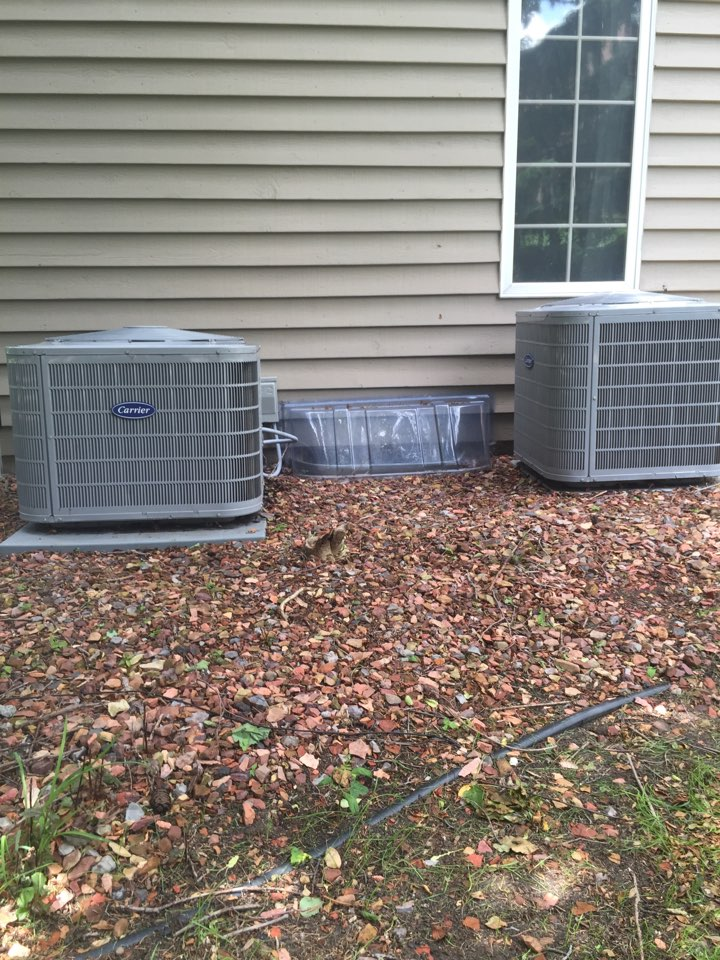 Granger, IN - Spring checks on 2 Carrier air conditioners