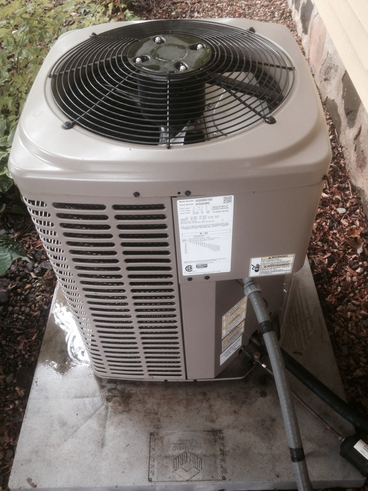 Millersburg, IN - Maintenance check on a York air conditioner