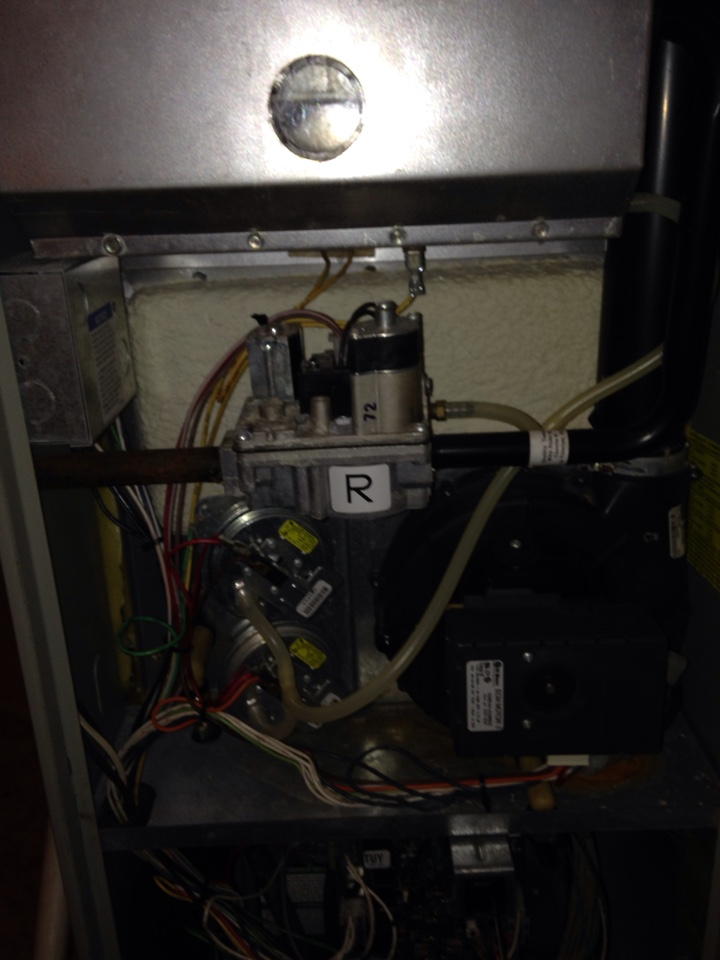 New Paris, IN - Furnace tune up on Trane system in New Paris. Check humidifier and safe operation during heating season