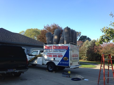 Ontwa, MI - Working on an Air Duct Cleaning... 19 openings, including register vents and cold air returns.