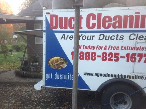 Osceola, IN - Air duct cleaning