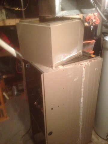 Osceola, IN - Replacing furnace and air conditioner with air command equipment new humidifier new cold air drop ductwork cleaned