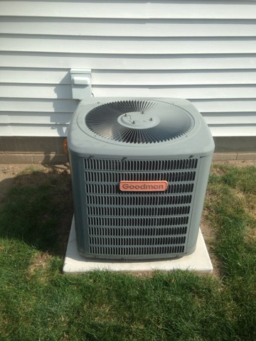 Topeka, IN - Performed tune up on a goodman air conditioner.