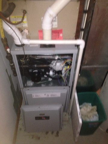 New Paris, IN - Furnace maintenance on a Ducane furnace for the winter season