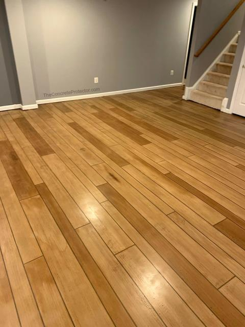 Manassas, VA - Turn your basement drag floor into a space worth spending time in with Rustic Wood!! Choose any color for an even more unique look!!