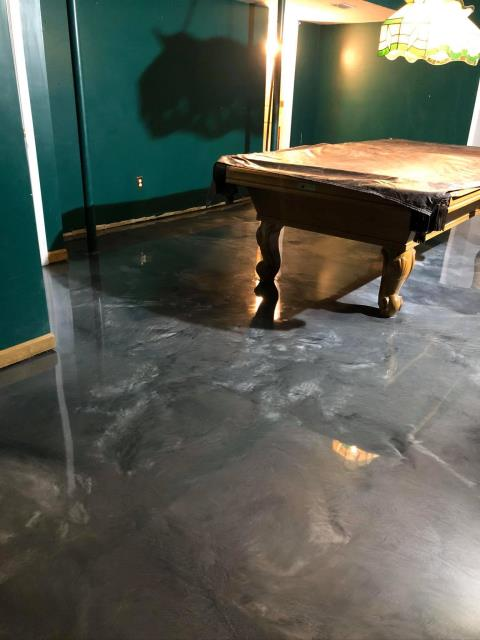 Arlington, VA - Remodel your entertainment/game room with a Metallic Marble floor! Create a one-of-a-kind floor to wow your guest and throw them off their game!!! Call today for a free quote!