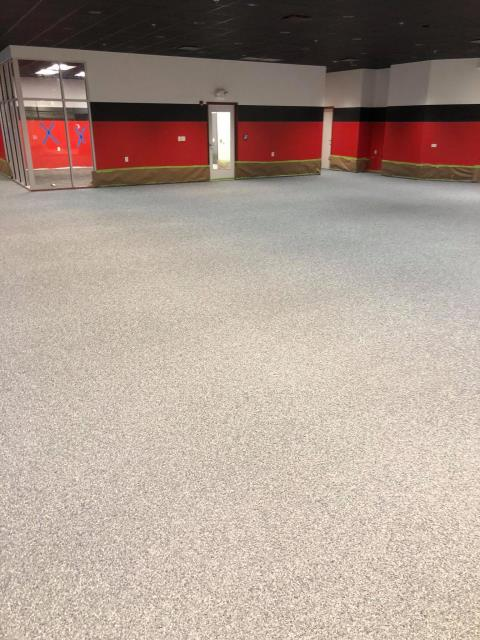 Washington, DC - Protect any commercial floor with GraniFlex! Add a bit of decor to the floor without compromising protection!!