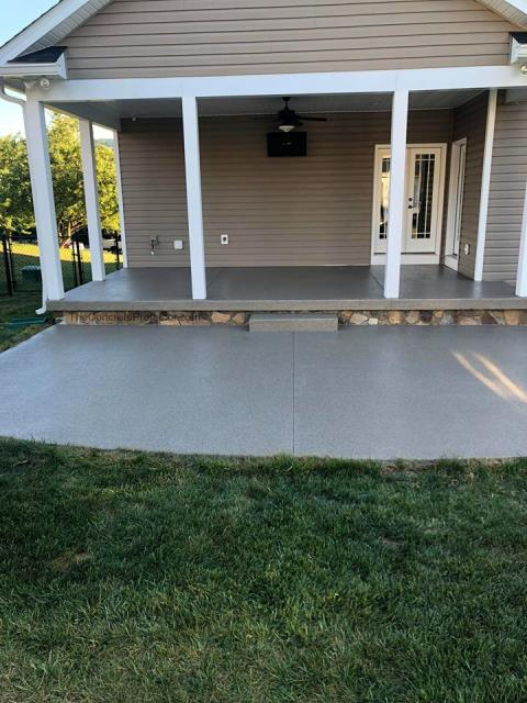 Tailored Concrete Coatings took on a big project for us last Spring. We wanted to redo our patio surface along with creating a space we could enjoy in the sun. Dylan and his crew gave us exactly what we were looking for! They installed a Graniflex coat on top of our patio and created a lower level GraniFlex patio below it. We absolutely love how they both turned out! The coating is also waterproof and protects against extreme weather conditions! Thank you to Dylan and his whole team at Tailored Concrete Coatings!