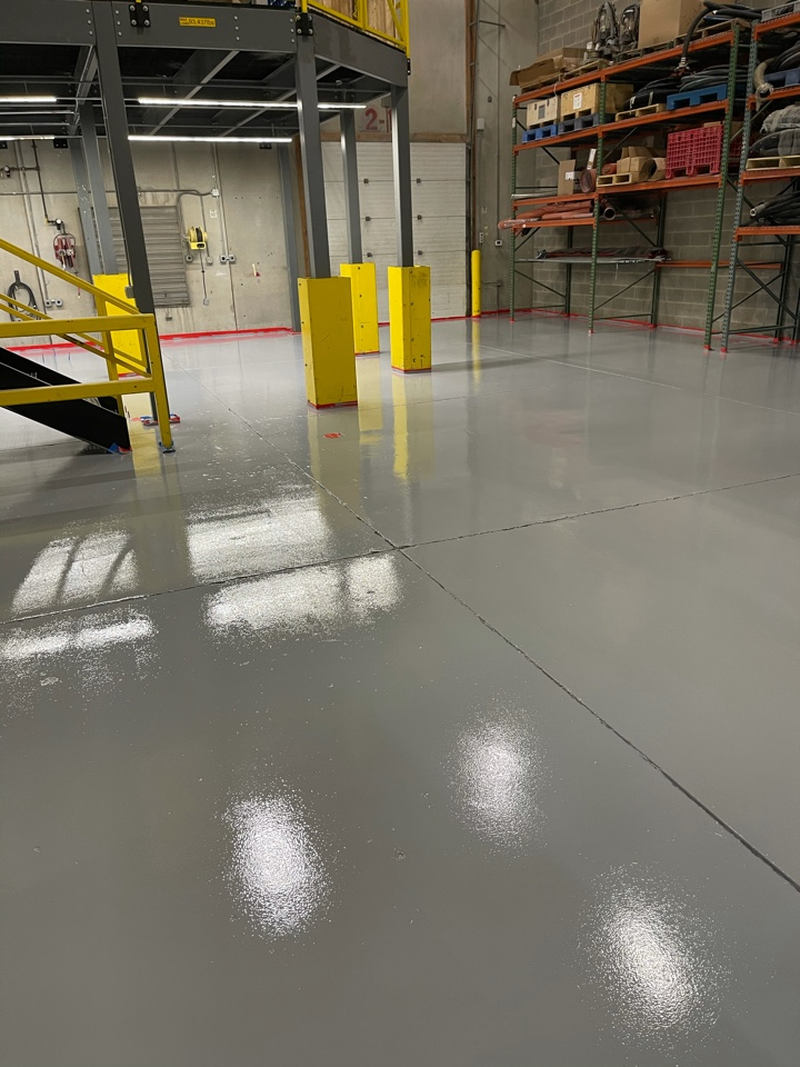 We are coating and resurfacing this concrete floor. Near Boyce Virginia.