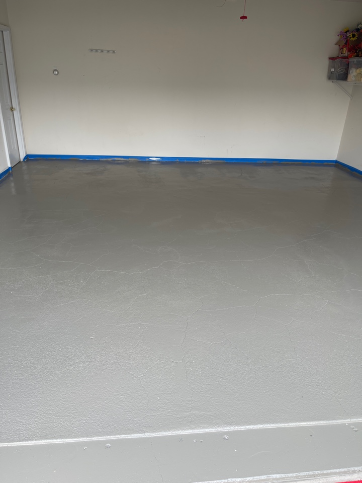 We just put on the 1st coat of graniflex on this garage floor. Near Stephens City Virginia.