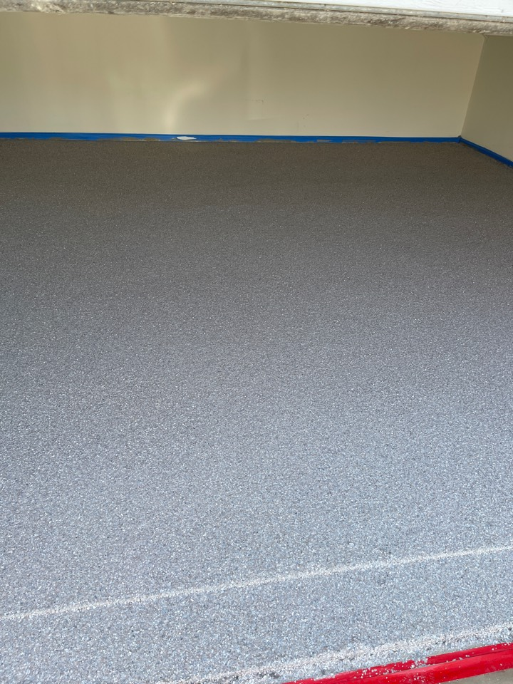 The team just finished putting flakes on this garage floor. Near Stephens City Virginia.