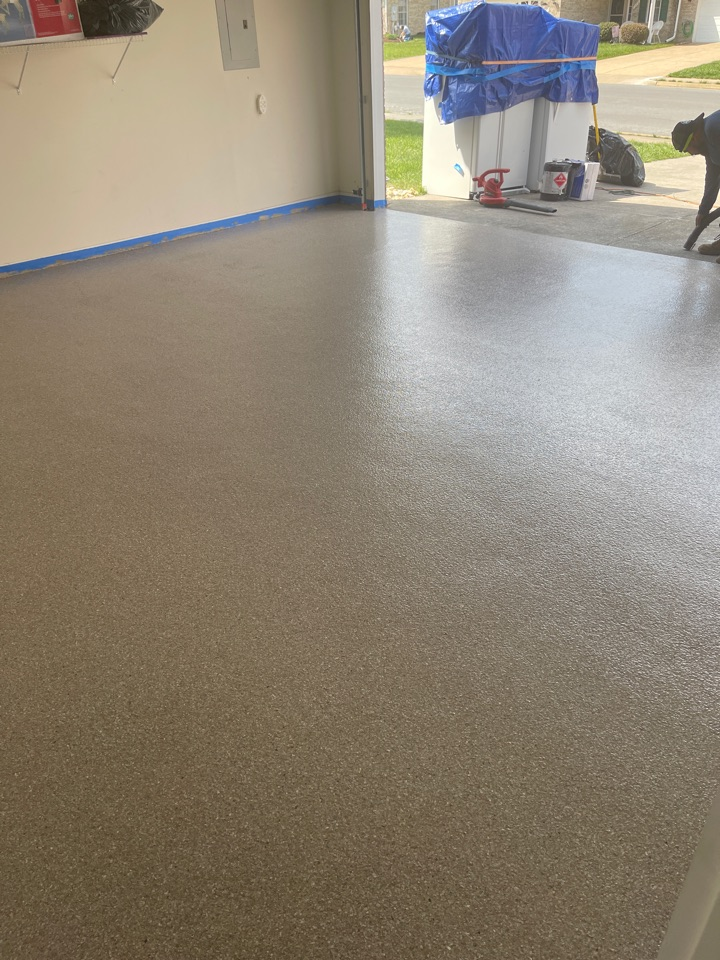We just finished a garage floor with a graniflex coating. Near Stephens City Virginia.