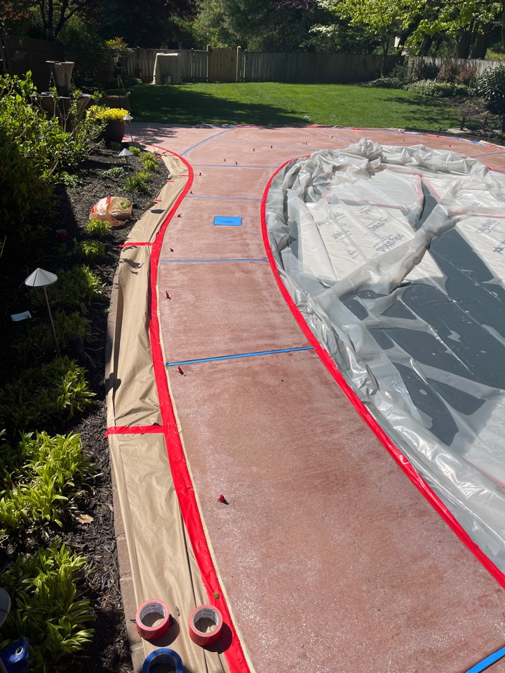 Today we are prepping for resurfacing this pool deck. Near Frederick Maryland.