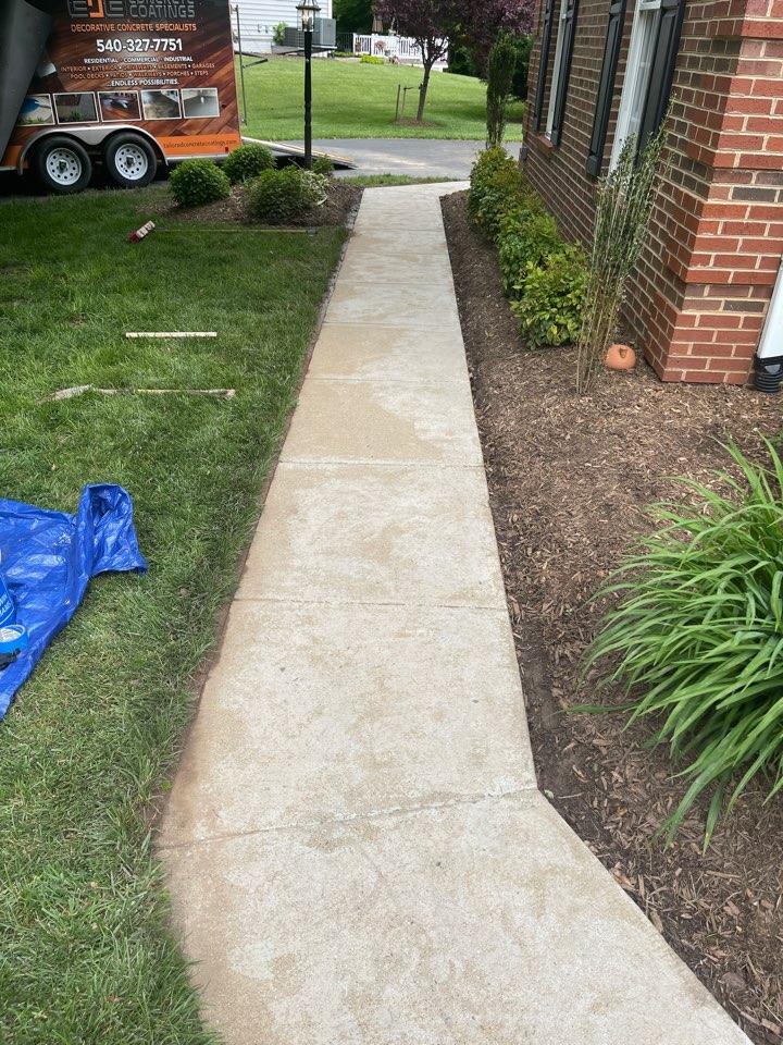 We are getting ready for a graniflex sidewalk resurfacing job. Near Warrenton Virginia.