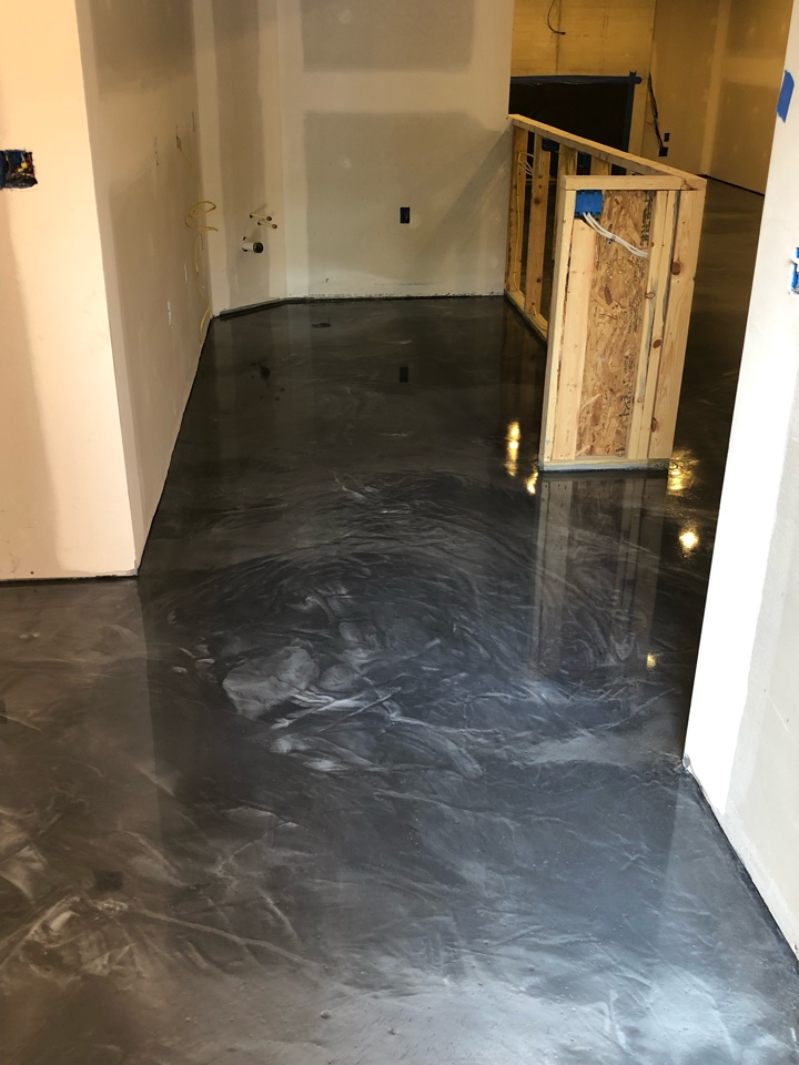 Final sanding and wax application. The floor system will be complete after this step. Near Front Royal Virginia