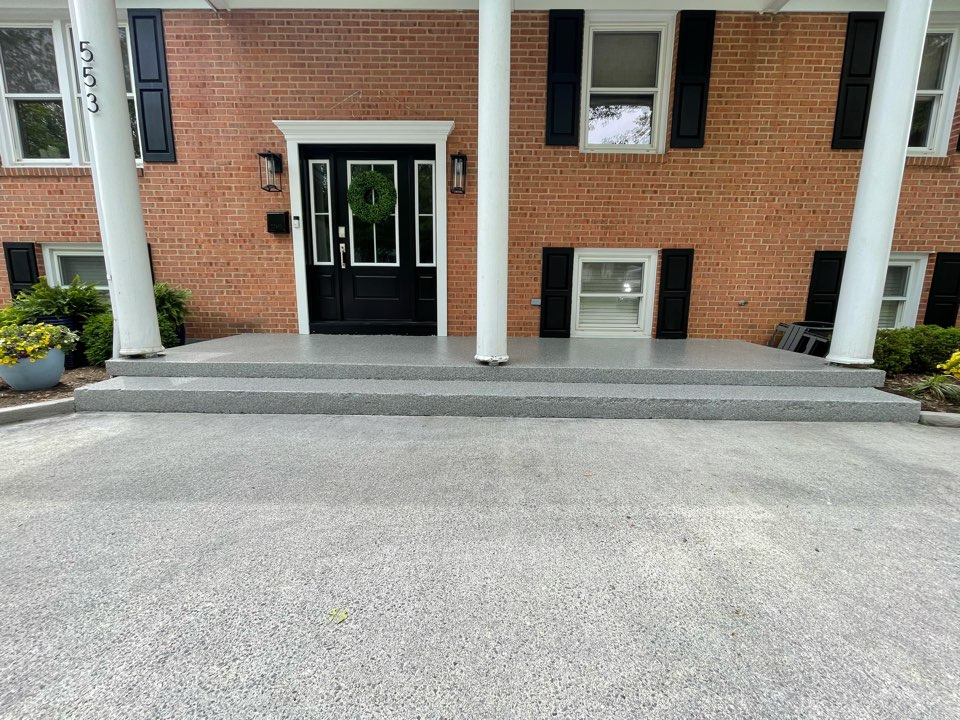 Winchester, VA - A finished look at the concrete coatings job we just did. Near Winchester Virginia