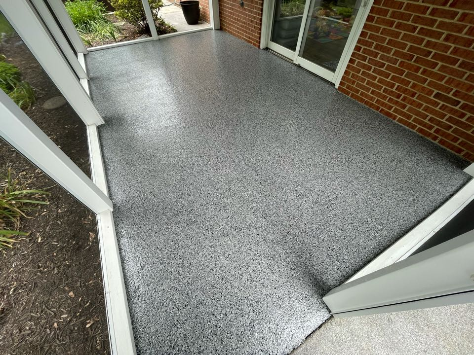 Winchester, VA - Our team just finished this concrete coating! Near Winchester Virginia
