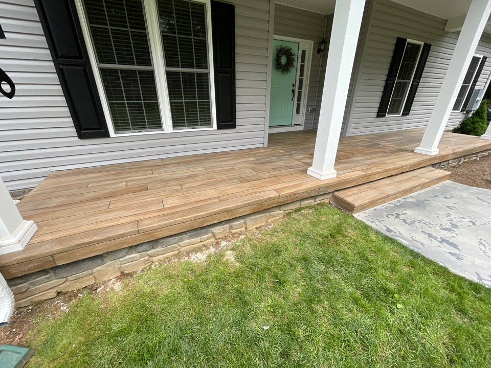 Winchester, VA - The team just Completed this beautiful rustic concrete wood coating. Near Winchester Virginia