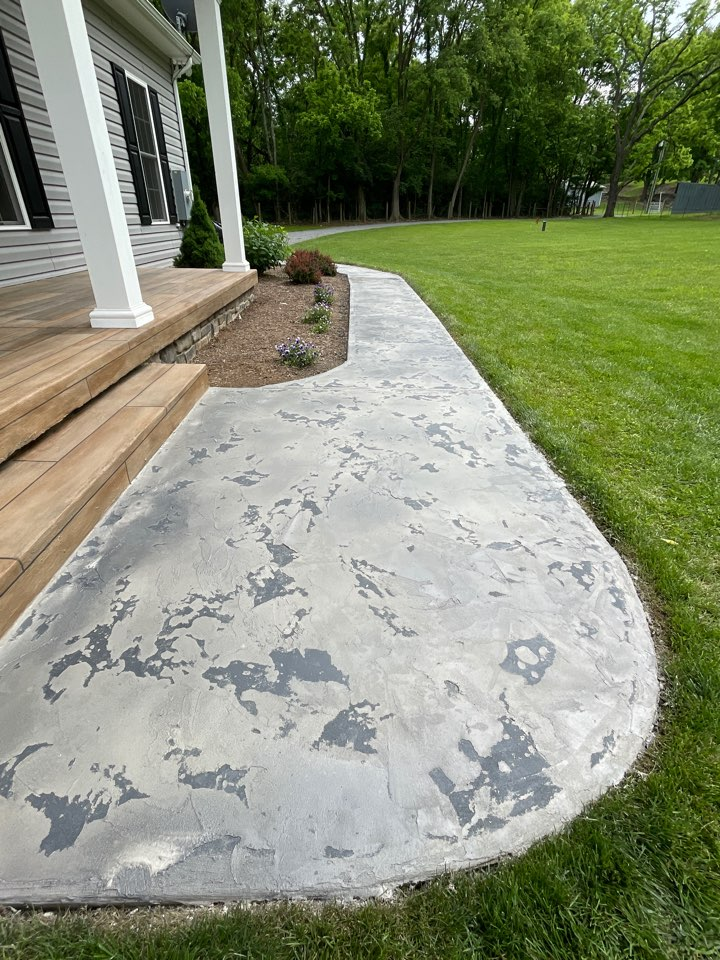 Winchester, VA - Our team just Completed this awesome sidewalk coating. Near Winchester Virginia