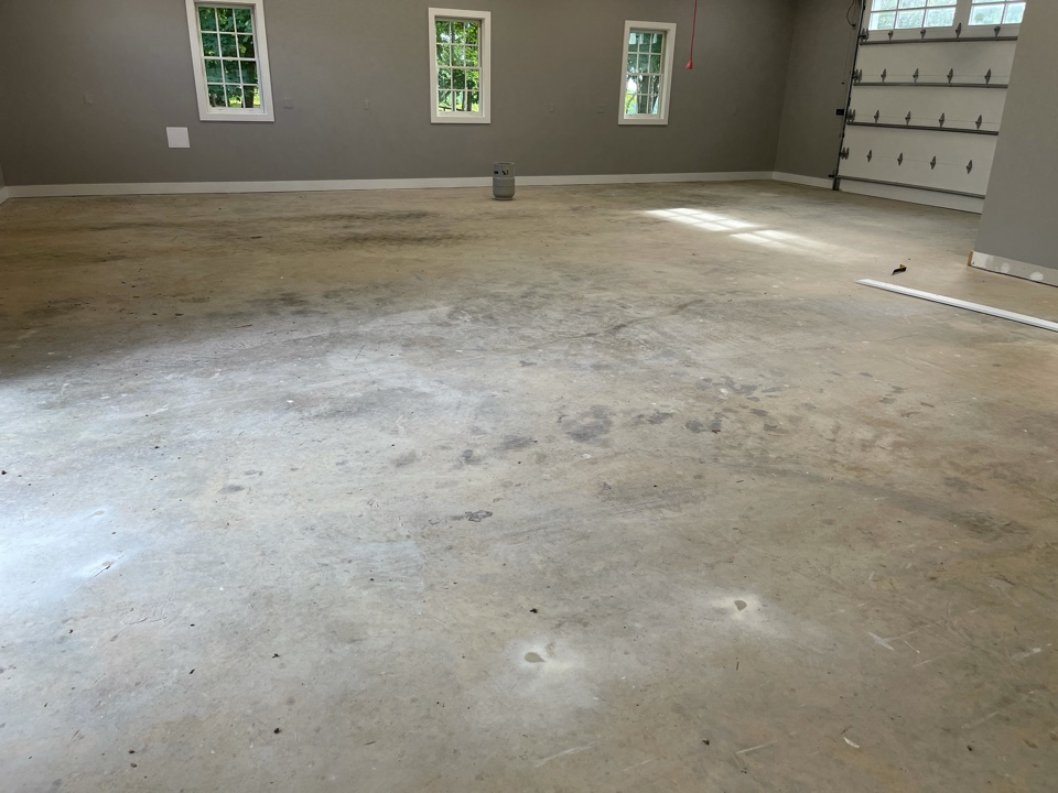 The team just finished grinding and prepping for our next concrete coating. Near Purcellville Virginia