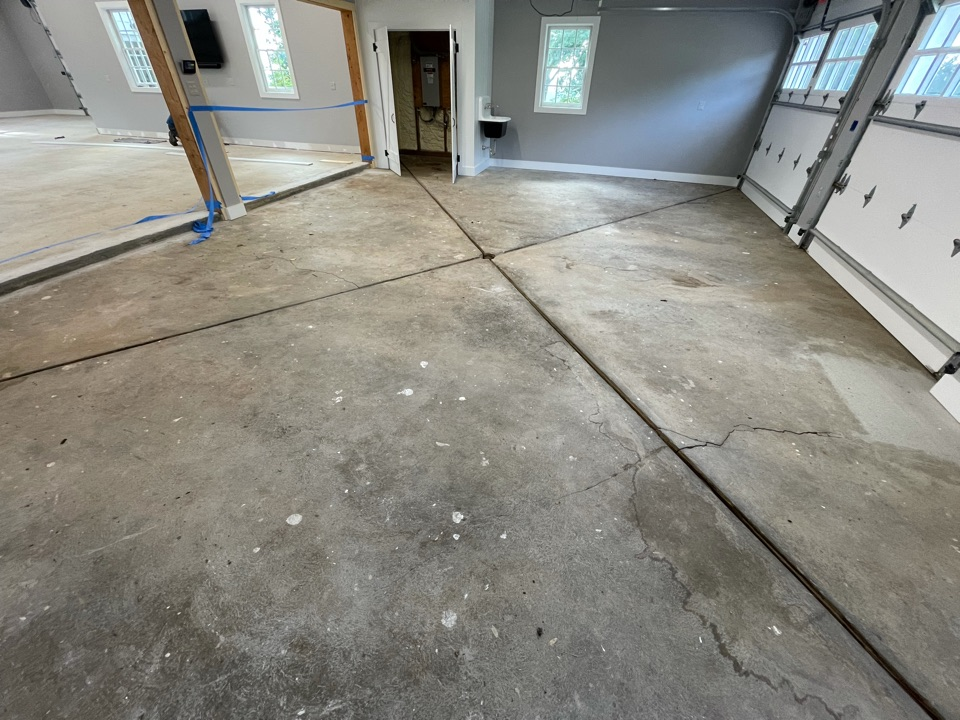 We Finished grinding and prepping for our epoxy coatings job. Near Purcellville Virginia