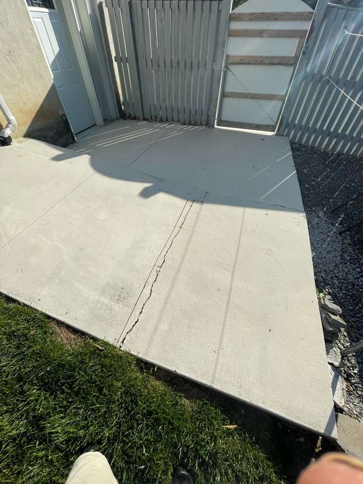 Martinsburg, WV - Another concrete patio about to be Power washed and acid etched. Near Martinsburg West Virginia