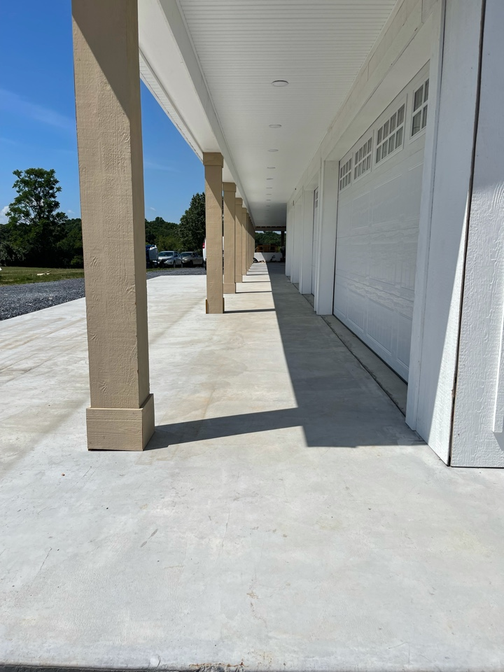 We are doing an acid etch surface prep for our next concrete coatings job. Near Strasburg Virginia