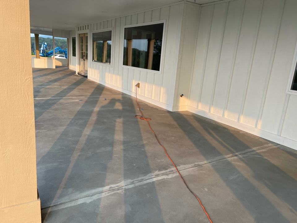 The team will apply base coat of texture and apply design tape. Near Strasburg Virginia