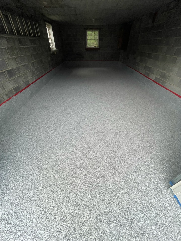Clean up excess flake and apply sealer