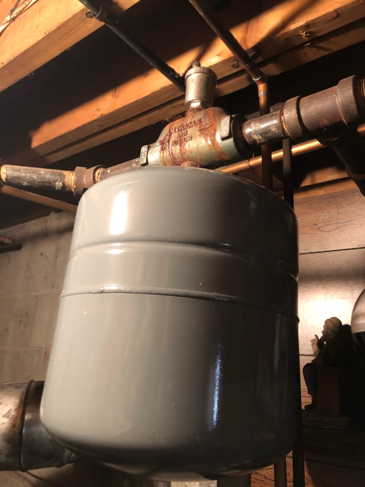 Newington, CT - Repairing water leaks on boiler. Installing new expansion tank,relief valve and hyvent.