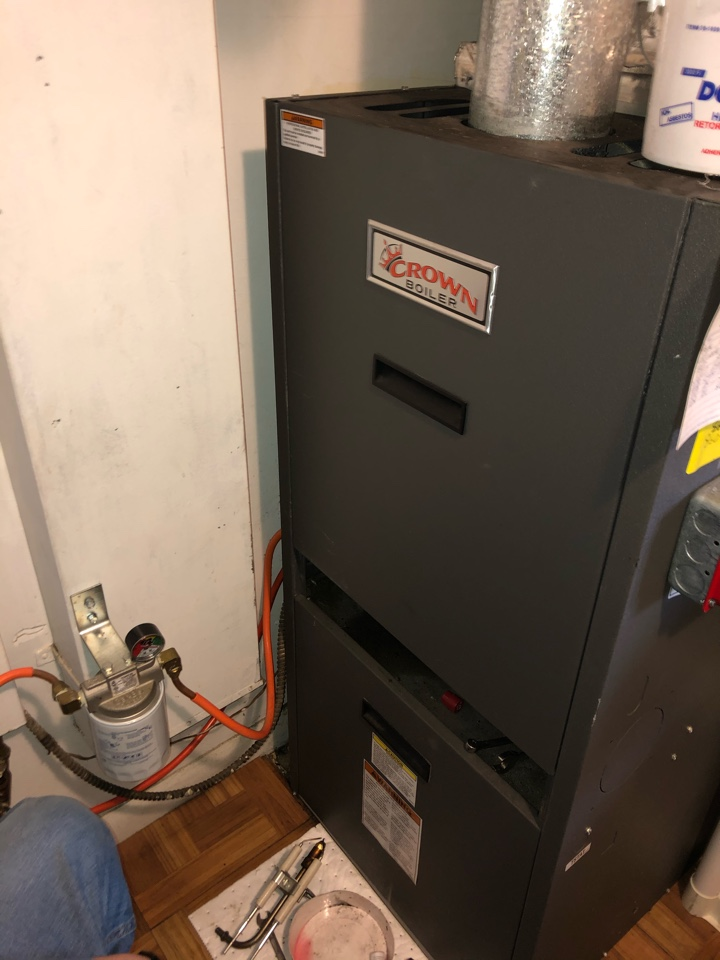 New Britain, CT - Performing annual maintenance on oil fired crown furnace.