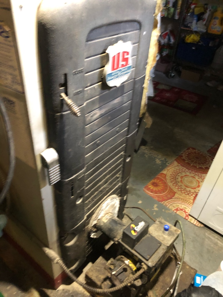 New Britain, CT - Performing annual maintenance on oil boiler.