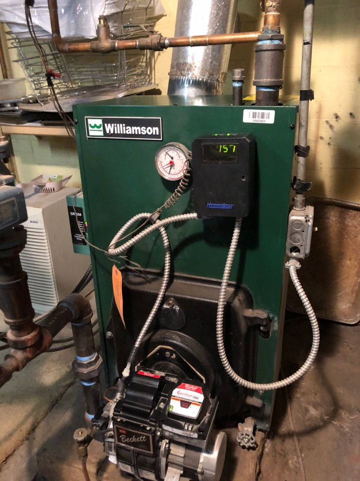 New Britain, CT - Performing annual maintenance on Williamson oil boiler.