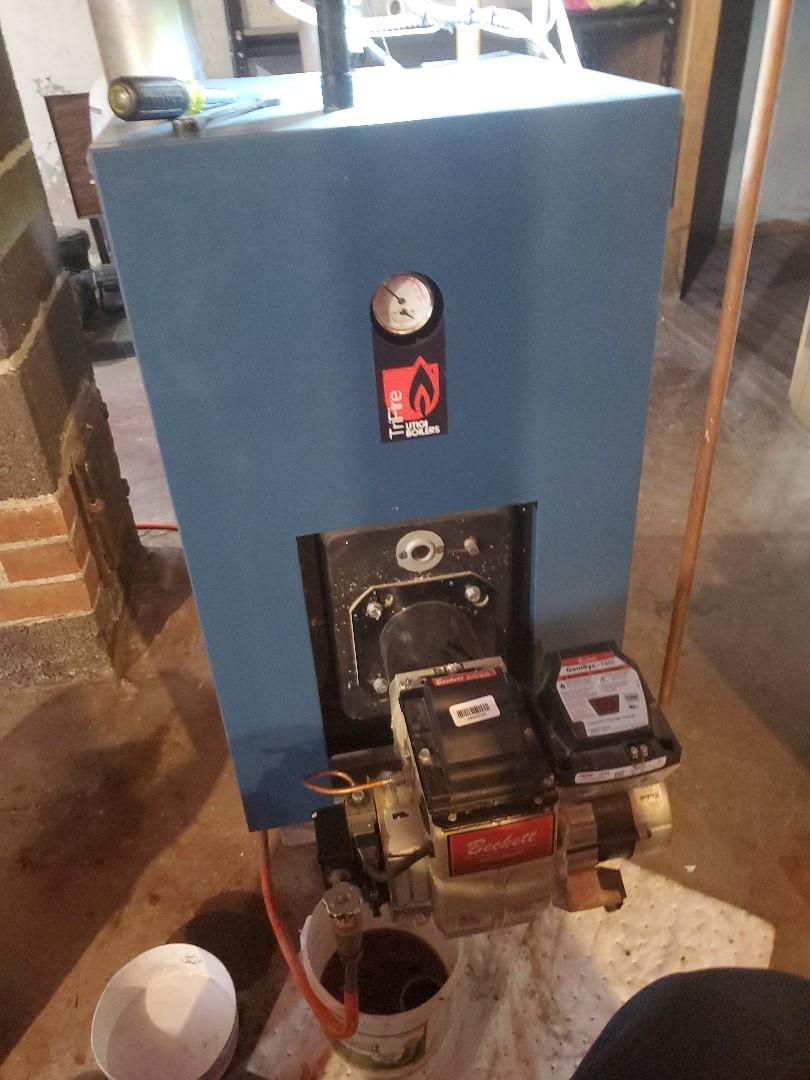 Bristol, CT - Servicing Tri fire Utica boiler