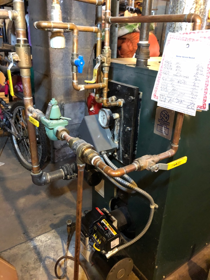 Southington, CT - Performing annual maintenance on oil Columbia boiler.