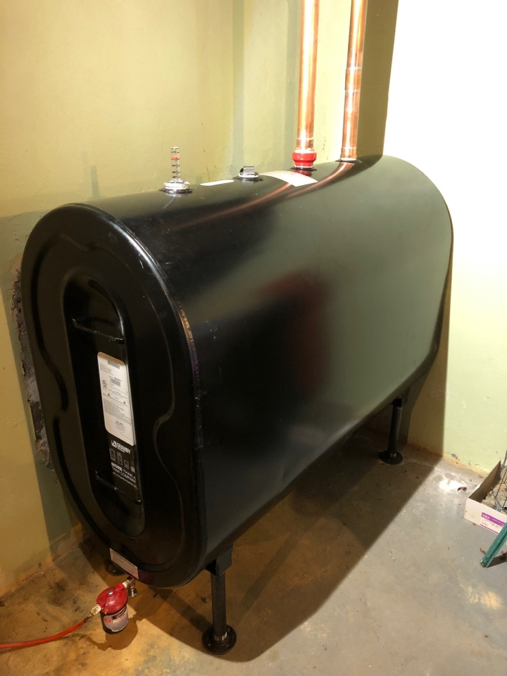 Plainville, CT - Perform 275 gallon oil tank install.