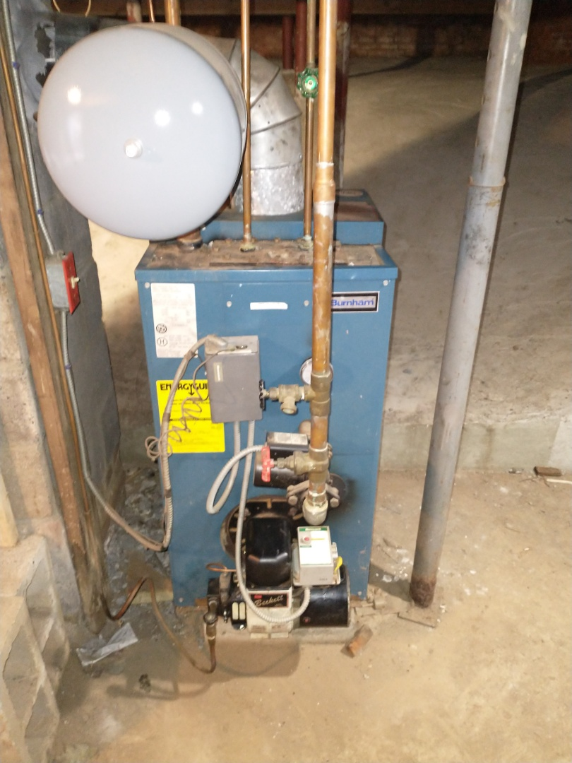 Southington, CT - Performing annual maintenance on a Burnham oil boiler with a Beckett burner.
