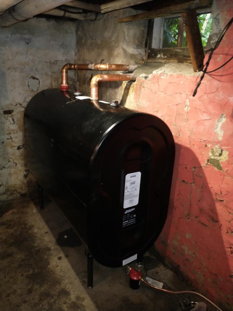 New Britain, CT - Installing a new 275 gallon Granby oil tank.