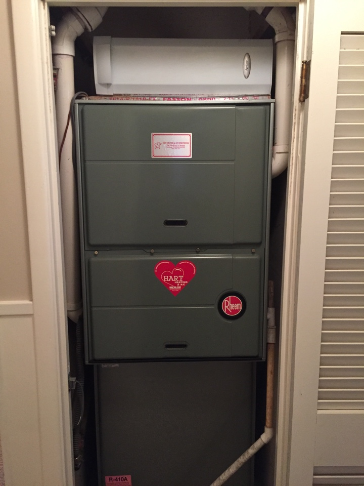 Idalou, TX - Heater repair on Rheem furnace.