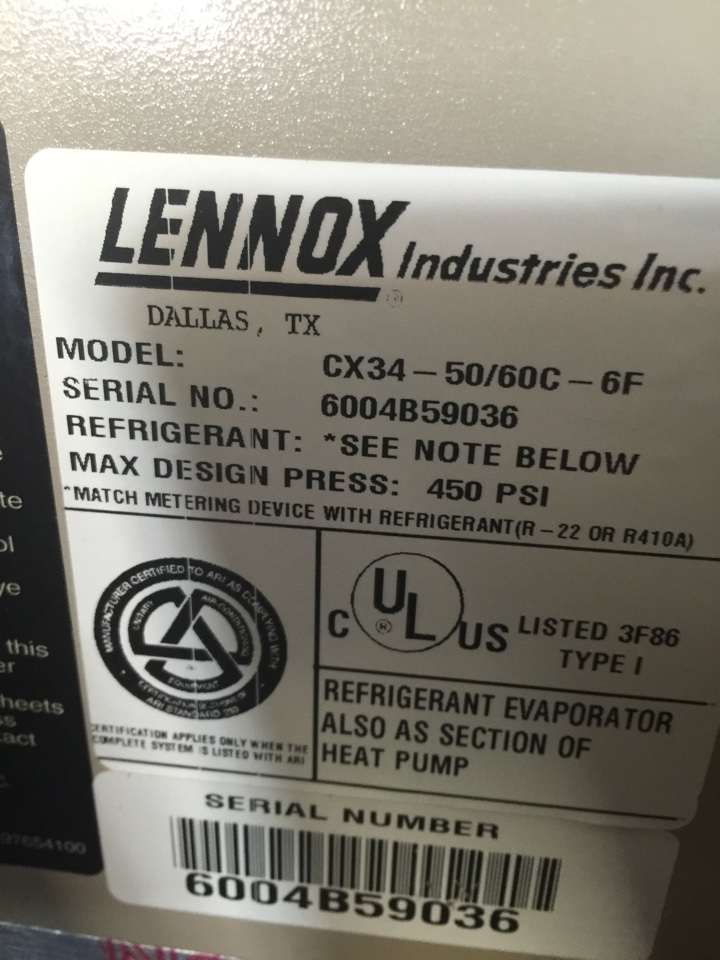 Replace Lennox AC