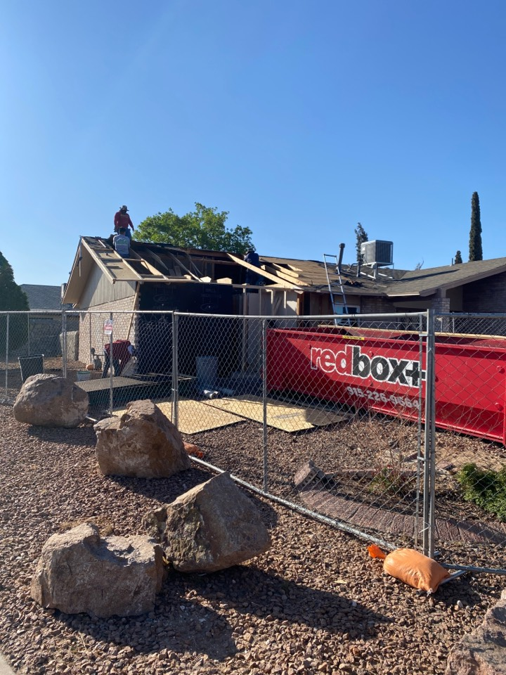 El Paso, TX - Reframing house damage by vehicle accident.